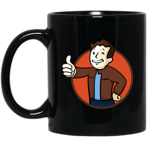 Todd Boy Vault Boy RPG Video Game 11 oz. Black Mug Todd Boy Vault Boy RPG Video Game 11 oz. Black Mug