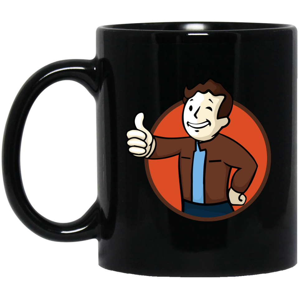 Todd Boy Vault Boy RPG Video Game 11 oz. Black Mug