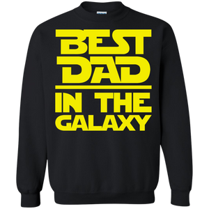 Best Dad In The Galaxy Crewneck Pullover Sweatshirt  8 oz.