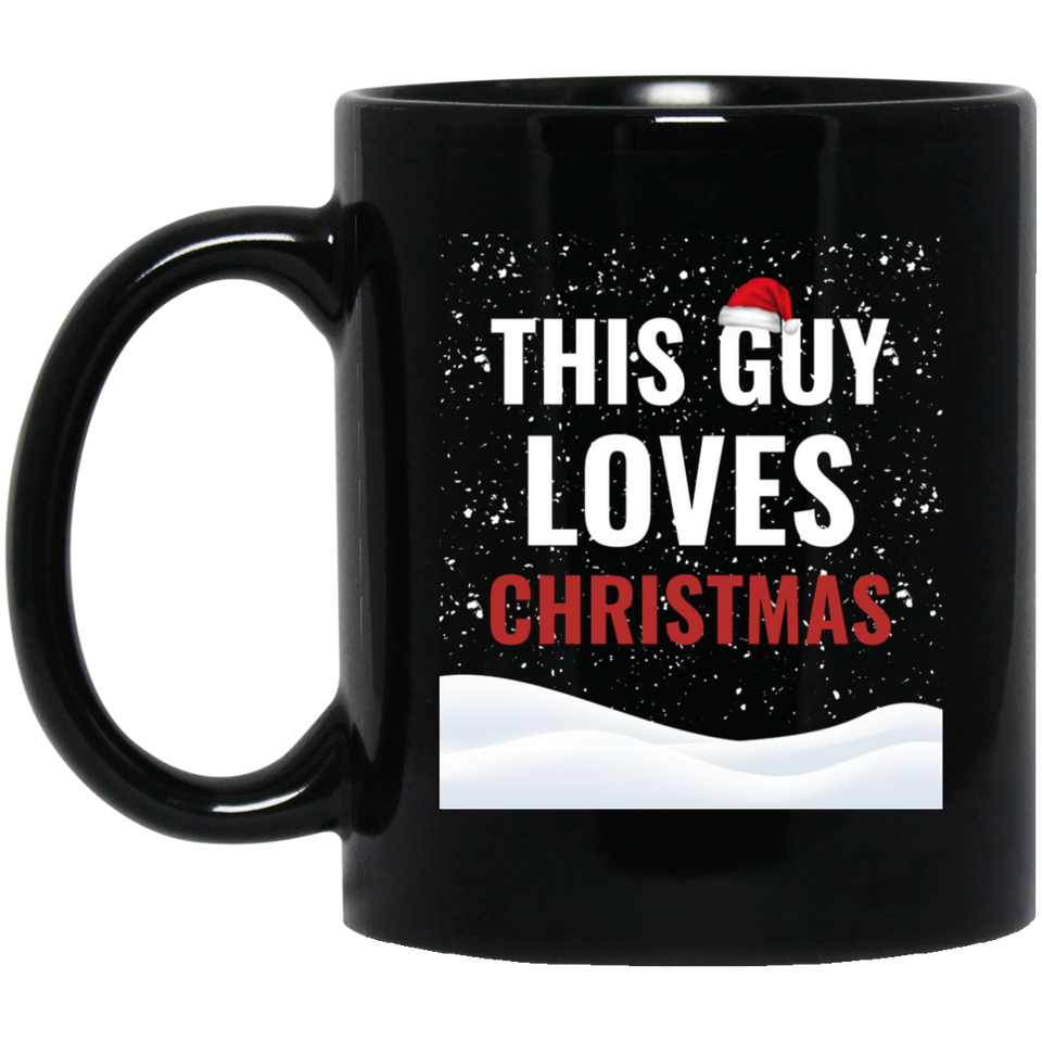 This Guy Loves Christmas Holidays Xmas 11 oz. Black Mug