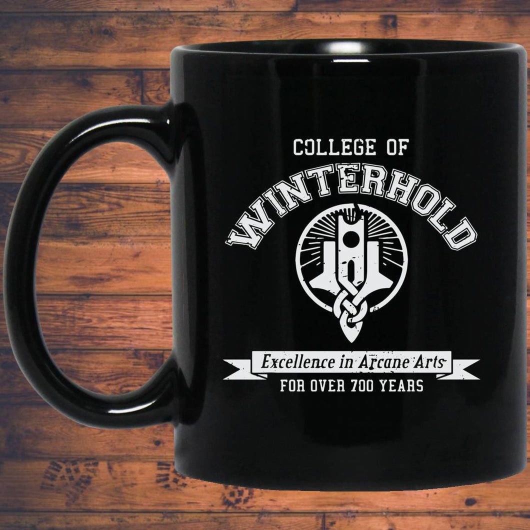 College of Winterhold 11 oz. Black Mug