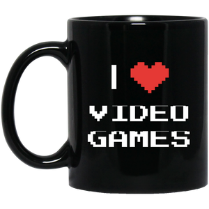 I Love Video Games 11 oz. Black Mug I Love Video Games 11 oz. Black Mug
