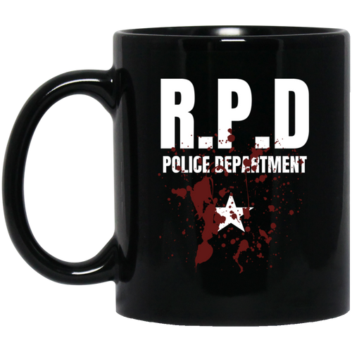 RPD Police Department 11 oz. Black Mug