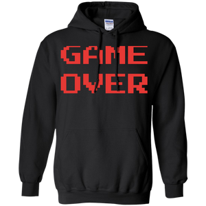 Game Over Retro Classic Video Gaming Pullover Hoodie 8 oz. Game Over