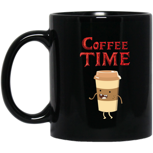 Coffee Time - Coffee Lovers 11 oz. Black Mug Coffee Time - Coffee Lovers 11 oz. Black Mug