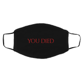You Died RPG Video Game Face Mask You Died RPG Video Game Face Mask