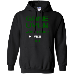 Game Over Continue Video Gaming Pullover Hoodie 8 oz.