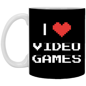 I Love Video Games 11 oz. White Mug I Love Video Games 11 oz. White Mug