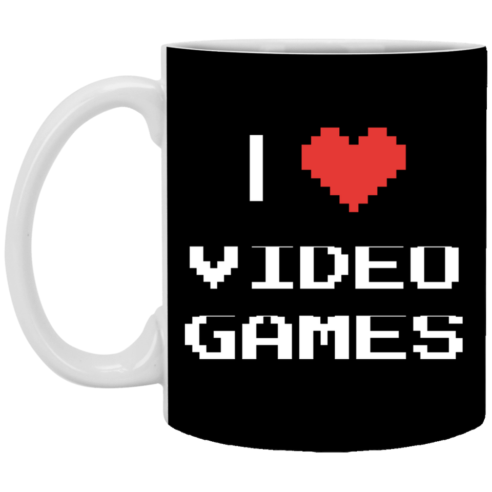 I Love Video Games 11 oz. White Mug