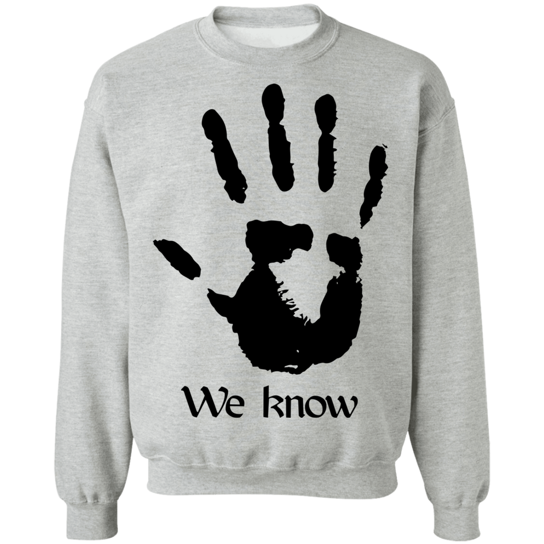 Dark Brotherhood We Know 3 Light Sweatshirt
