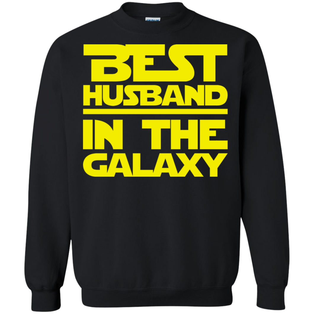 Best Husband In The Galaxy Crewneck Pullover Sweatshirt  8 oz.