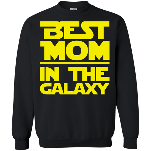 Best Mom In The Galaxy Crewneck Pullover Sweatshirt  8 oz.