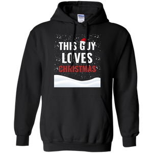 This Guy Loves Christmas Holidays Xmas Pullover Hoodie 8 oz.