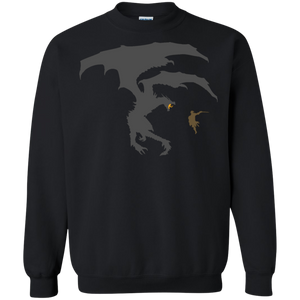 Dragon Fantasy RPG Crewneck Pullover Sweatshirt  8 oz. Elder Scrolls Skyrim Dragonborn Dragon