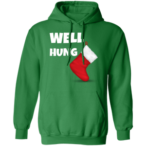 Well Hung Christmas Ugly Xmas Hoodie