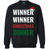 Winner Winner Christmas Dinner Xmas Holidays Crewneck Pullover Sweatshirt  8 oz. Winner Winner Christmas Dinner Xmas Holidays Crewneck Pullover Sweatshirt  8 oz.