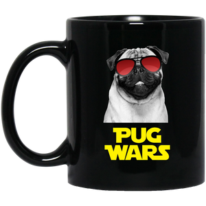 Pug Wars 11 oz. Black Mug Pug Wars 11 oz. Black Mug