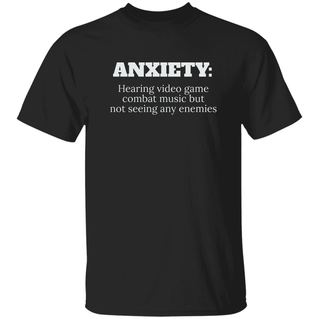 Anxiety Hearing Videogame T-Shirt (C19)