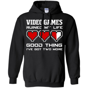 Video Games Ruined My Life - Video Gaming Pullover Hoodie 8 oz. Video Games Ruined My Life - Video Gaming Pullover Hoodie 8 oz.