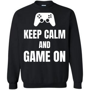 Keep Calm And Game On Video Gaming Crewneck Pullover Sweatshirt  8 oz. Keep Calm And Game On Video Gaming Crewneck Pullover Sweatshirt  8 oz.