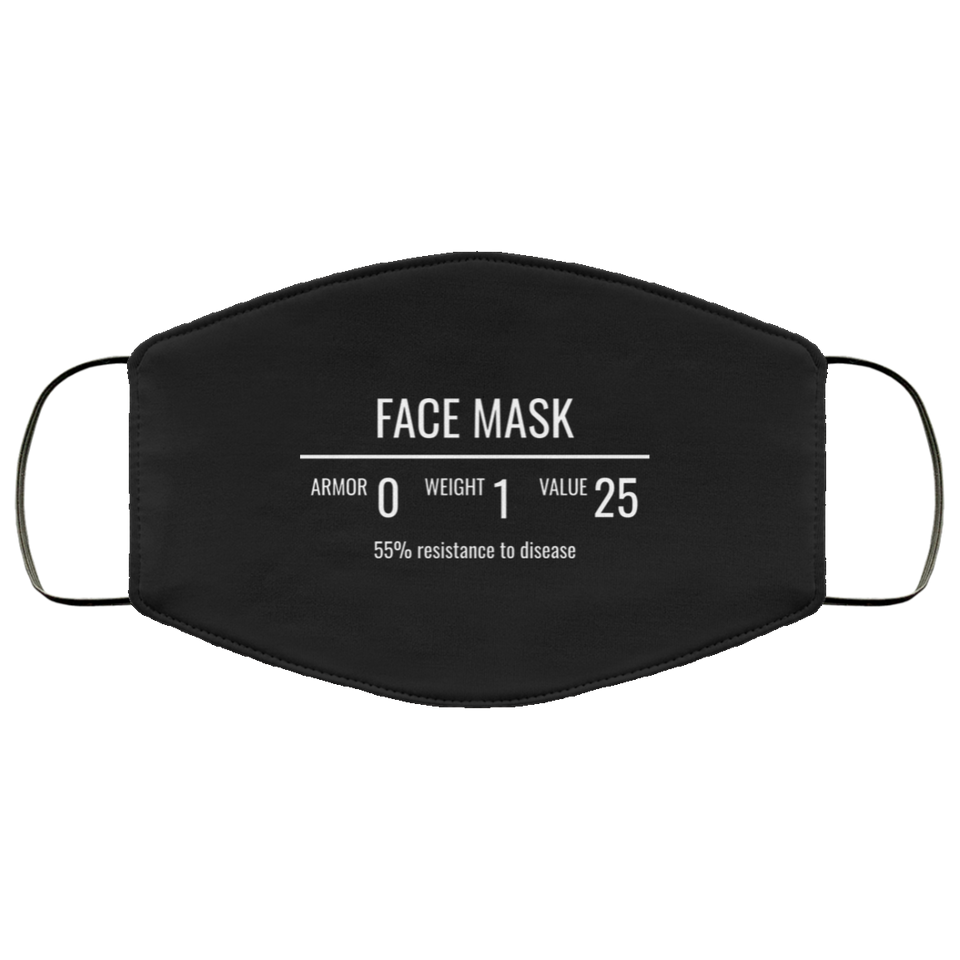 Fantasy RPG Face Mask Video Game Sublimation Face Mask 2