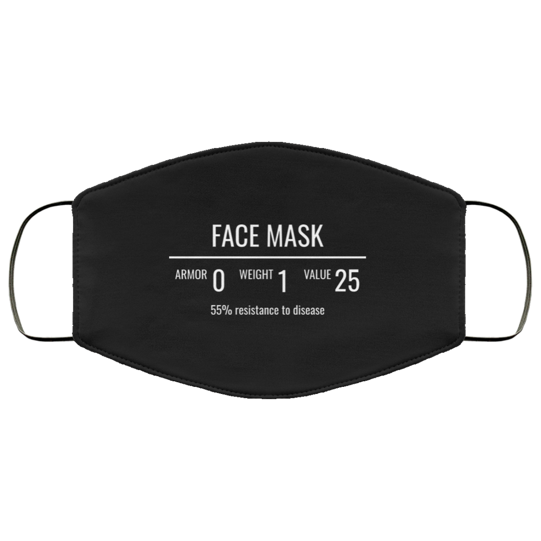 Fantasy RPG Face Mask Video Game Sublimation Face Mask 2 (C19)