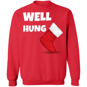 Well Hung Christmas Ugly Xmas Sweatshirt