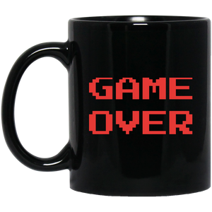 Game Over 11 oz. Black Mug Game Over 11 oz. Black Mug