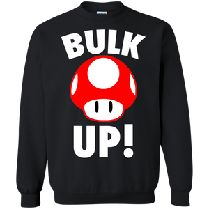 Bulk Up Mushroom 1-Up Crewneck Pullover Sweatshirt  8 oz. Mario