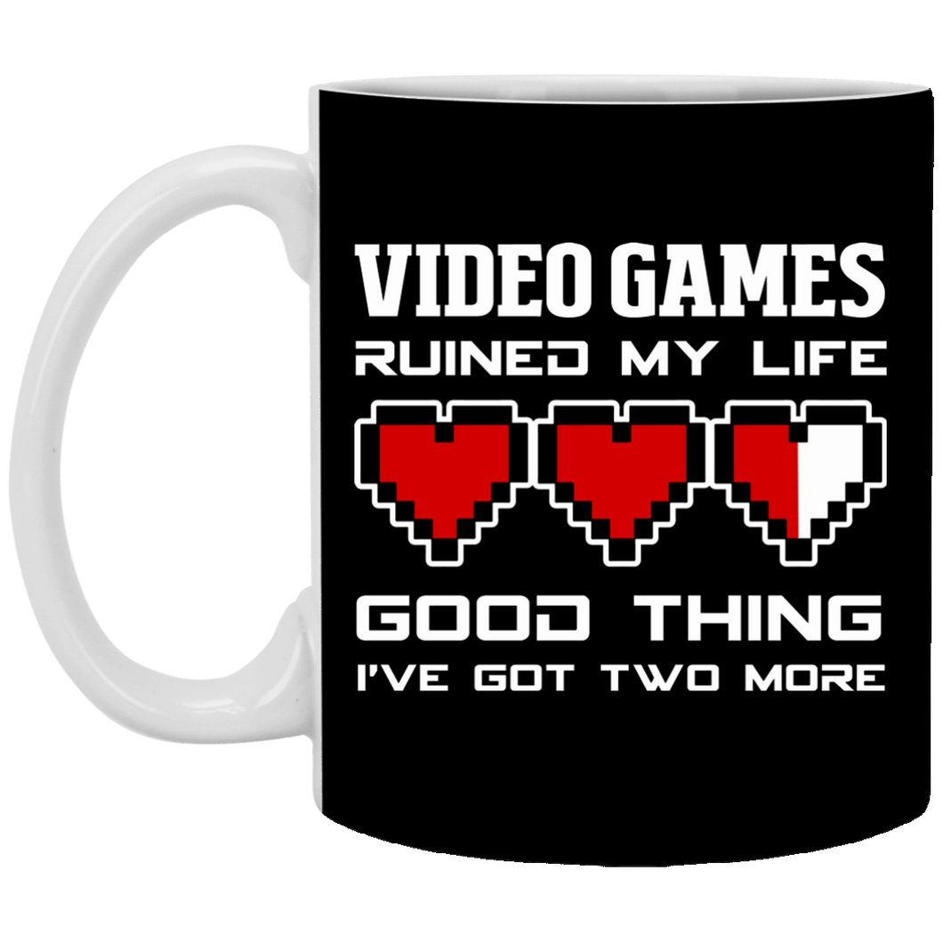 Video Games Ruined My Life 11 oz. White Mug
