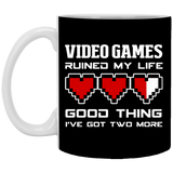Video Games Ruined My Life 11 oz. White Mug Video Games Ruined My Life 11 oz. White Mug