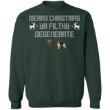 Merry Christmas Ya Filthy Degenerate Green Xmas Sweatshirt Merry Christmas Ya Filthy Degenerate Green Xmas Sweatshirt
