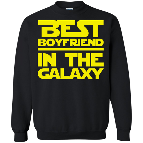 Best Boyfriend In The Galaxy Crewneck Pullover Sweatshirt  8 oz.