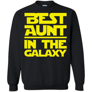 Best Aunt In The Galaxy Crewneck Pullover Sweatshirt  8 oz.