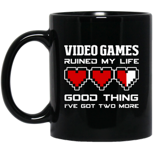 Video Games Ruined My Life 11 oz. Black Mug Video Games Ruined My Life 11 oz. Black Mug