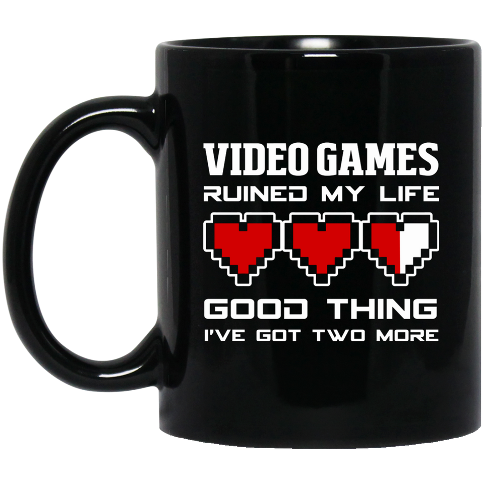 Video Games Ruined My Life 11 oz. Black Mug