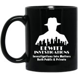 DeWitt Investigations 11 oz. Black Mug DeWitt Investigations 11 oz. Black Mug