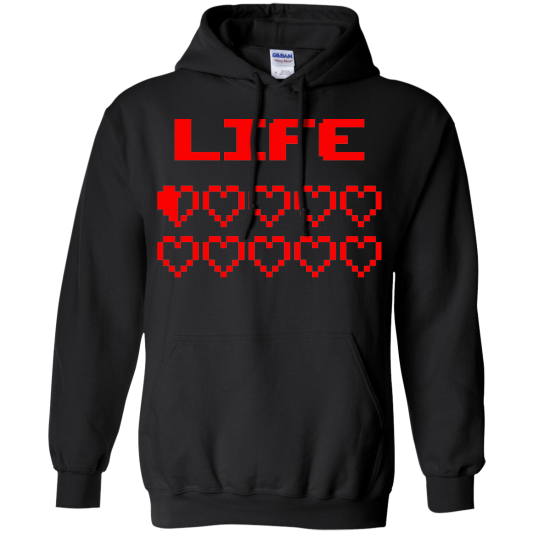 Game Hearts Health Bar - Video Gaming Pullover Hoodie 8 oz.
