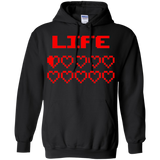 Game Hearts Health Bar - Video Gaming Pullover Hoodie 8 oz. Game Hearts Health Bar - Video Gaming Pullover Hoodie 8 oz.