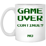 Game Over Continue 11 oz. White Mug Game Over Continue 11 oz. White Mug