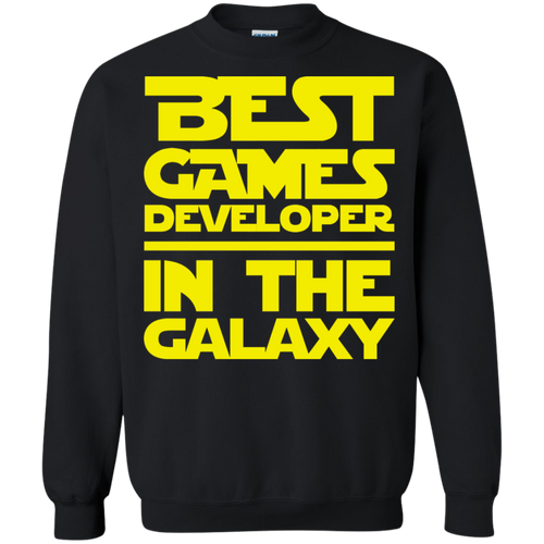 Best Games Developer In The Galaxy Crewneck Pullover Sweatshirt  8 oz.