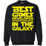Best Games Developer In The Galaxy Crewneck Pullover Sweatshirt  8 oz. Best Games Developer In The Galaxy Crewneck Pullover Sweatshirt  8 oz.