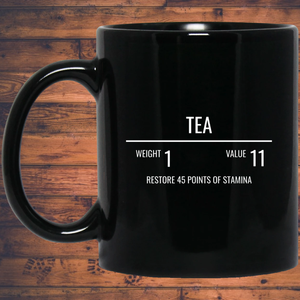Tea RPG 11 oz. Black Mug Tea RPG 11 oz. Black Mug