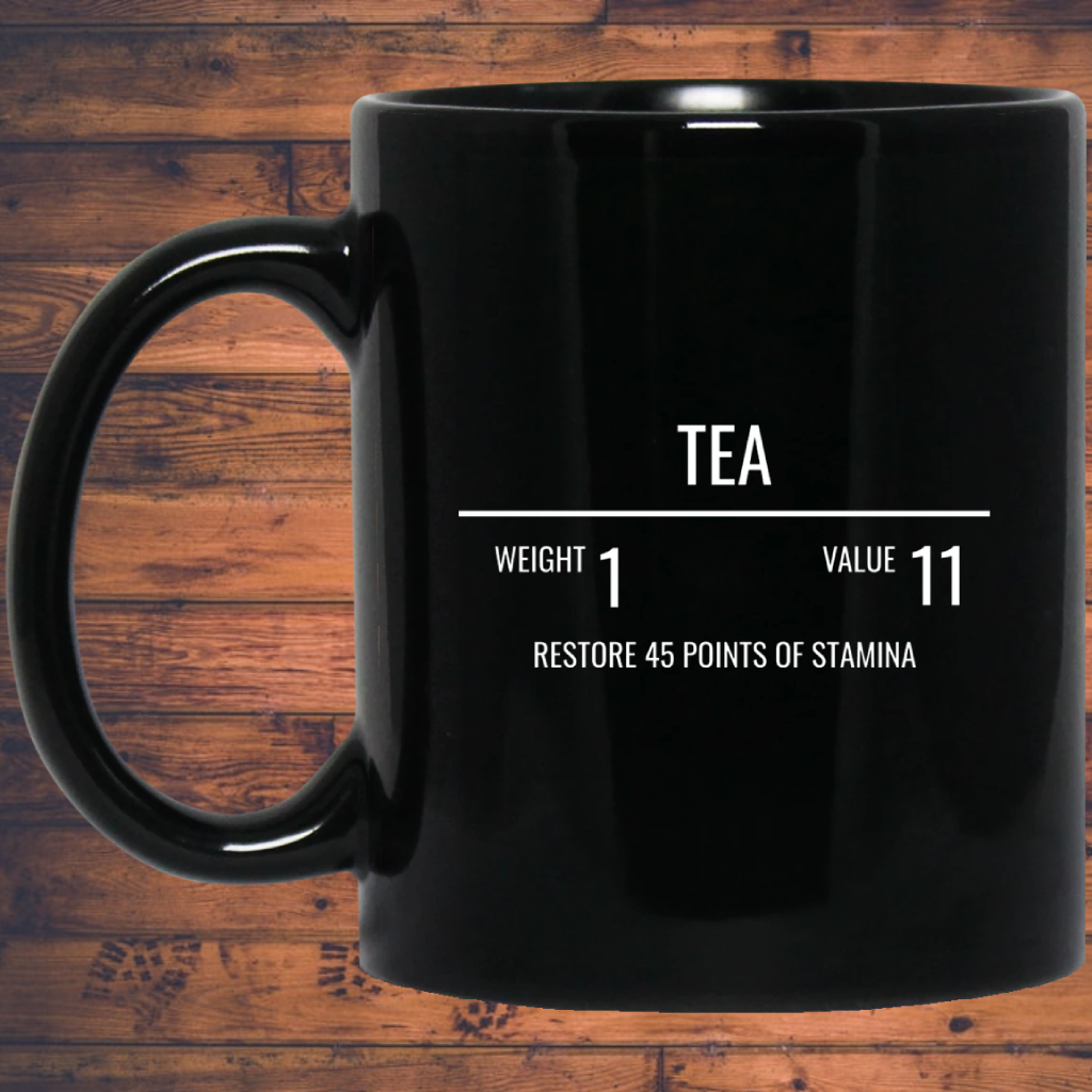 Tea RPG 11 oz. Black Mug