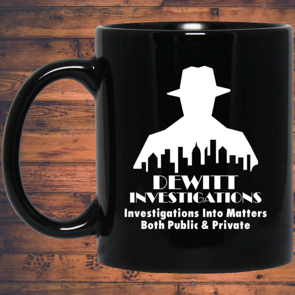 DeWitt Investigations 11 oz. Black Mug