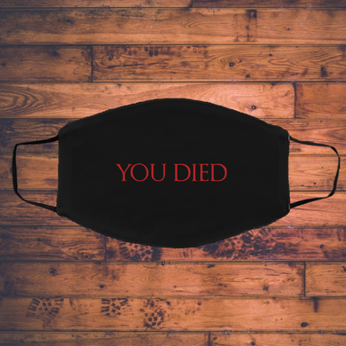 You Died RPG Video Game Face Mask