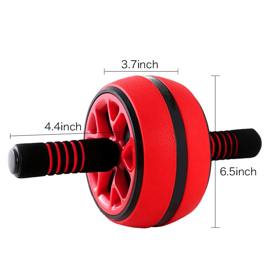 Gains™ Silent Abdominal Wheel Roller Trainer Fitness Gym Ab Roller Core Trainer
