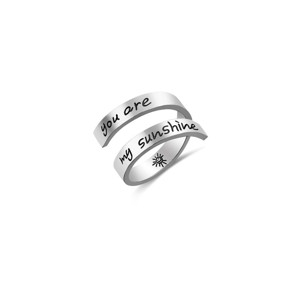 Stainless Steel Adjustable Faith Ring