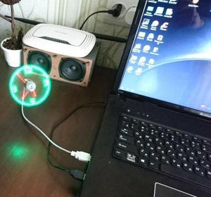 Mini USB Fan LED Clock Mini USB Fan LED Clock