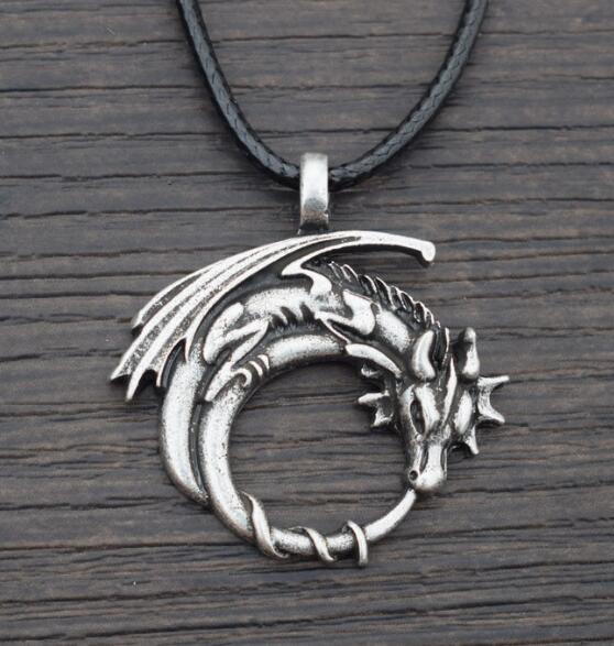 dragon necklace, dragon pendant